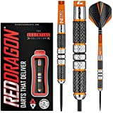 Red Dragon Amberjack 2: 21g - 90% Tungsten Steel Darts with Flights, Shafts, Wallet & Red Dragon Checkout Card