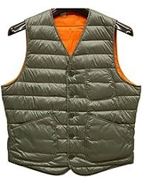 (ダブルアールエル) RRLリバーシブル Braley ダウン ベスト メンズ Reversible Down Vest 並行輸入品 [並行輸入品]
