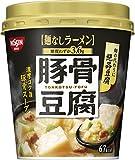 日清食品 日清 麺なしラーメン 豚骨豆腐スープ 24g×6個