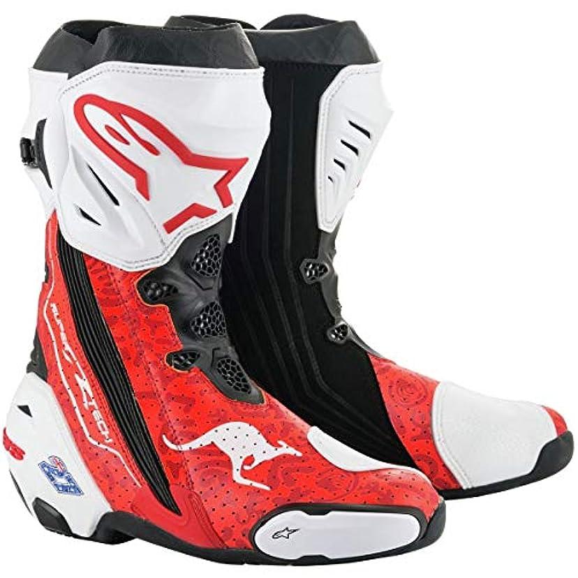 鉛ホテル仮称Alpinestars 限定版 ストナー スーパーテック R レース レプリカ メンズ オフロード バイクブーツ 46 レッド 2220015-3002-46