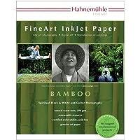 "Hahnemuhle Fineアート竹繊維自然ホワイト、滑らかな暖かいトーンインクジェット用紙、290、GSM、8.5X 11"" 25シート"