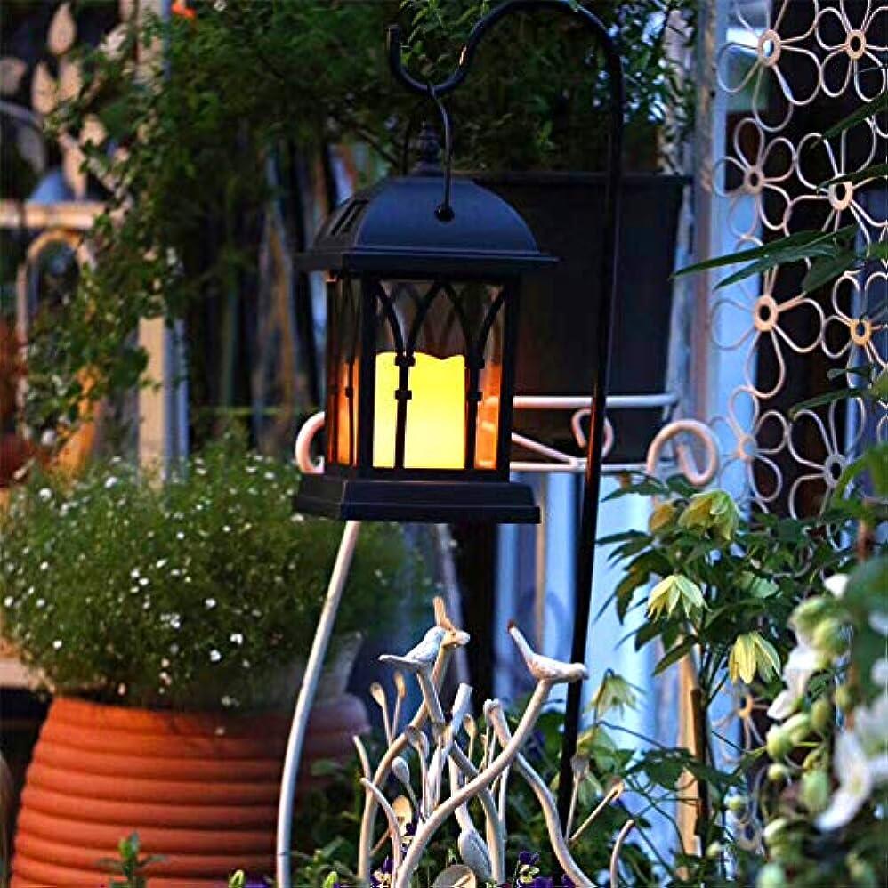 十分ドキュメンタリーであることソーラー芝生ライト 屋外屋内装飾 ソーラー充電キャンドルライト レトロランタン ガーデンパティオヤード装飾用