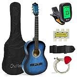 Meda  38インチ 初心者アコースティックギター スターターキット ケース付き ストラップ デジタル E-Tuner ピック ピッチパイプ 弦