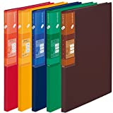 プラス スーパーエコノミー クリア―ファイル+ A4 20ポケット ミックス 5冊入