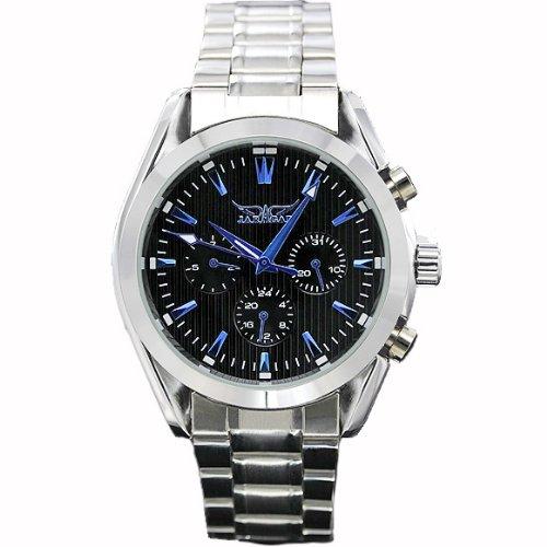 ・メンズ腕時計 イメージは夜の都会 全針稼動の本格派 ミッド...