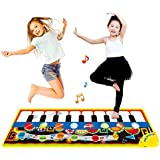 Jenilily Piano Music Mat for Kids Dance Games Best Children's Gift Baby Early Education Music Singing Carpet -10 Key Step on Keyboard