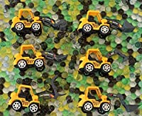 Dew Drops Water Beads Construction Zone Tactile Sensory Kit - Tractor Toys Included - Great Fine Motor Skills and Sensory Bin for Kids [並行輸入品]