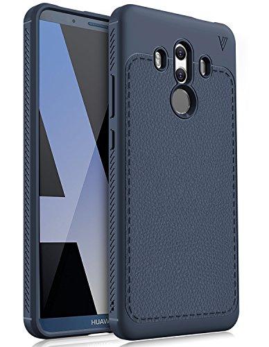 Huawei mate 10 Pro ケース KUGI Huawei mate 10 Pro 専用 ケース 高品質 PUレザー ガードカバー 耐衝撃 衝撃吸収 落下防止 防塵 指紋防止 放熱強化 Huawei mate 10 Pro ケース ネイビー