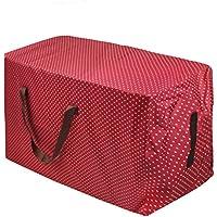 大容量 引越しバッグ ビッグボストンバッグ 収納ケース 布団収納バッグ メガバック キャンバスビッグ 収納ケース ダブルファスナー 丈夫 メガボストン 折り畳める キャンプ 輸送 梱包 保管 イベント キャリーバッグに最適 レッド