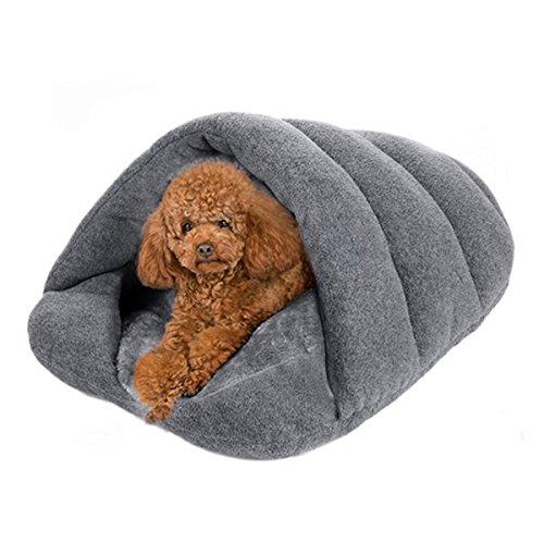 Honel ペット用寝袋 犬/猫 ベッド ペットハウス クッション 秋冬 洗える 保温防寒 暖かい休憩所