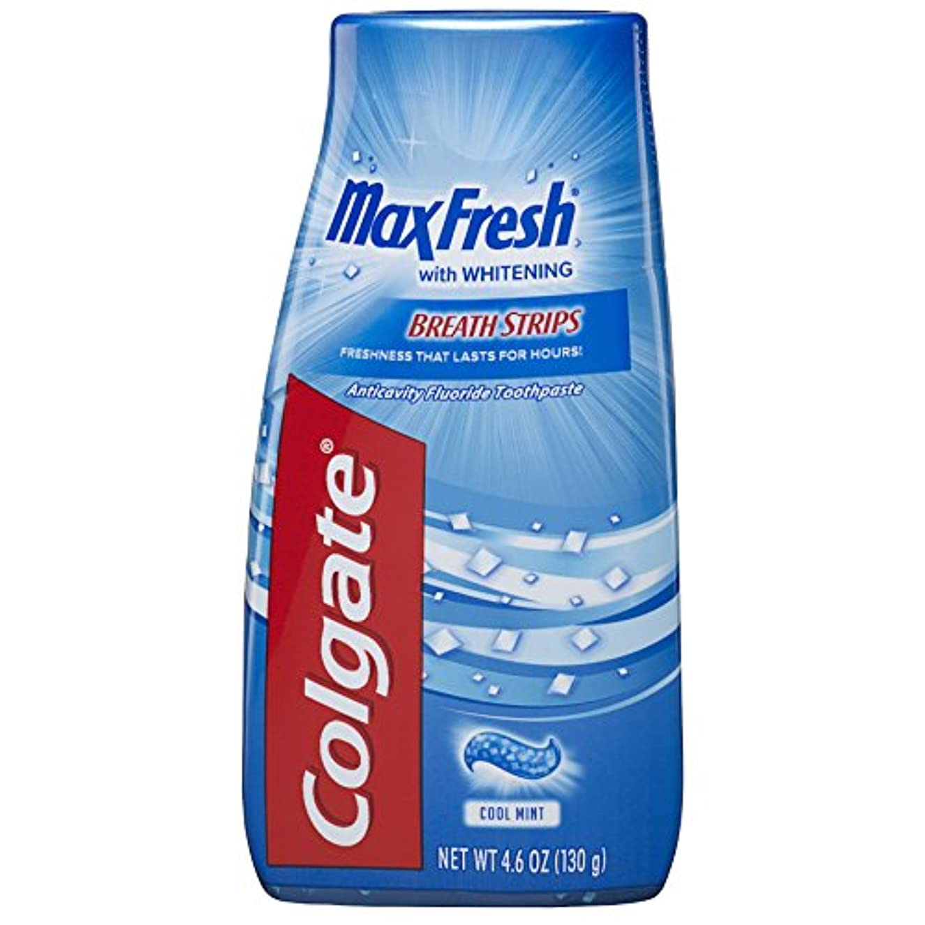 家禽傾斜応じるColgate マックス新鮮な液体ゲル2-IN-1歯磨き粉およびマウスウォッシュ - 4.6オンス(12パック)