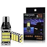 FASTCAR W16W T10 T15 T16 led バックランプ 爆光 キャンセラー内蔵 DC12V /24V兼用 無極性 Canbus 45連 ホワイト 2個セット6500K