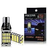 FASTCAR W16W T10 T15 T16 led バックランプ 爆光 キャンセラー内蔵 DC12V /24V兼用 無極性 Canbus 45連 ホワイト 2個セット6500K