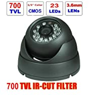 BW? IR Aluminum Dome CCTV Camera - 1/3 Inch CMOS, 3.6mm Lens, 700 TVL, with IR-CUT