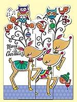 RACHEL  ELLEN 日本未入荷クリスマスカード スナッパーカード トナカイ ジグザグカード