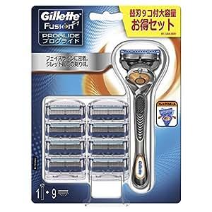 ジレット プログライド 髭剃り 本体+替刃9コ付