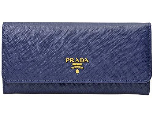 (プラダ) PRADA 財布 長財布 1MH132 ブルー サフィアーノ レザー [並行輸入品]