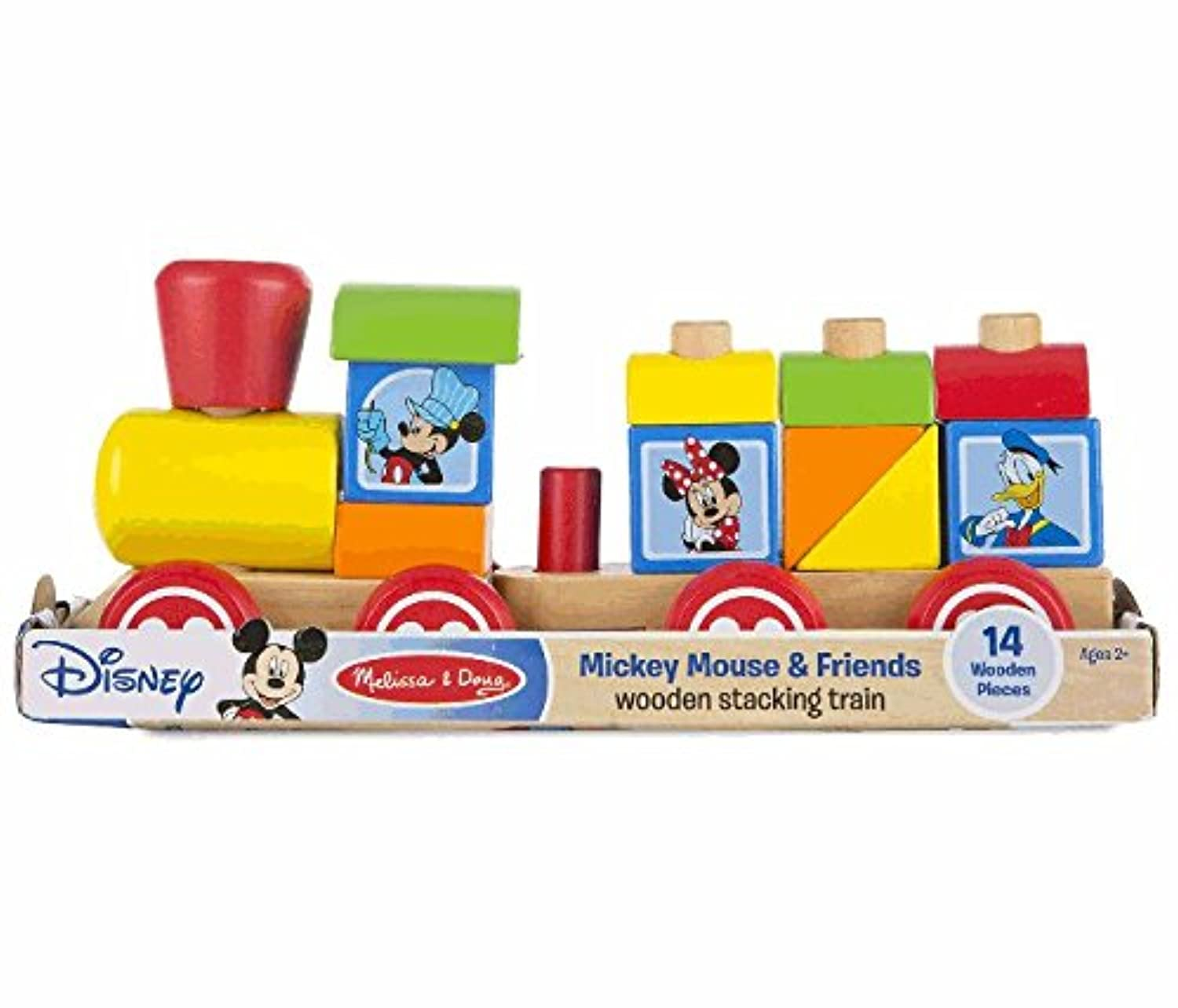 Disney(ディズニー) Mickey Mouse and Friends Wooden Stacking Train by Melissa & Doug ミッキー?マウスのスタッキング列車 メリッサ&ダグ 【並行輸入品】