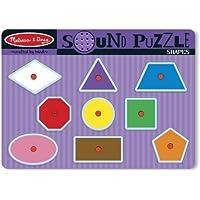 2 Item Bundle: Melissa & Doug 728 Shapes Sound Puzzle + Free Activity Book By Melissa & Doug [並行輸入品]