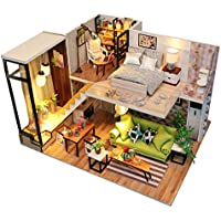 Flever Dollhouse Miniature DIY Music House Kit Manual Creative With Furniture for Romantic Artwork Gift (Romantic Northern Europe)