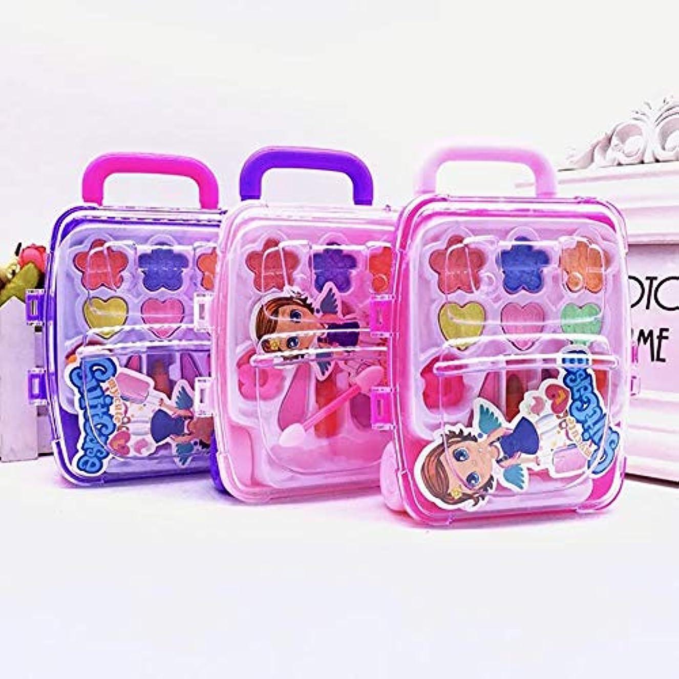簡単に無視するパークかわいい王女ふりメイクセット化粧品シミュレーション子供女の子子供のおもちゃ - ランダムな色