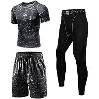 コンプレッションウェア セット メンズ トレーニング スポーツウェア 長袖 半袖 ハーフパンツ タイツ 吸汗速乾