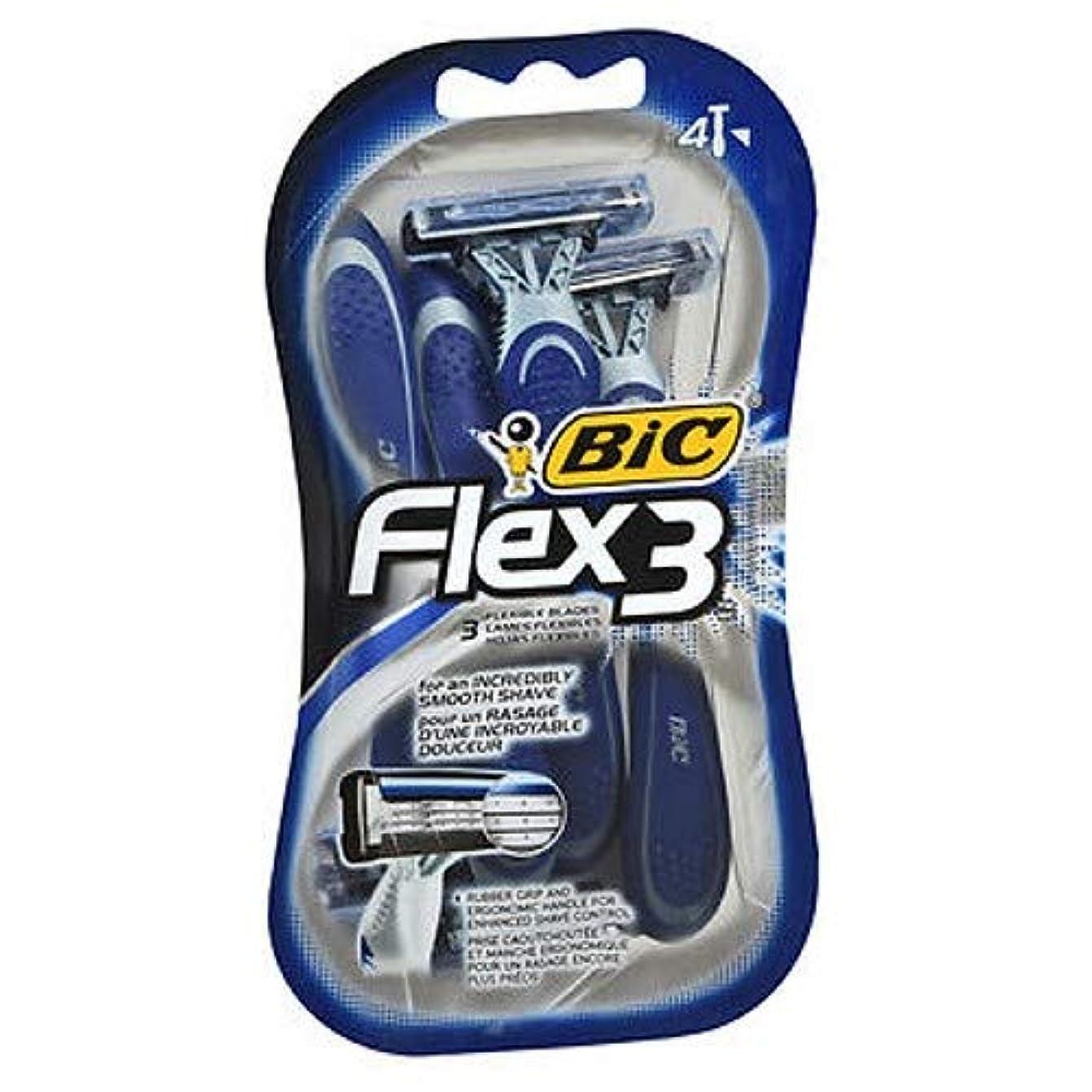 任命数脚BIC Flex 3の男子4Ctサイズ4Ct Flex 3の男子4Ct