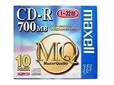 maxell CDR80MQ.1P10S CDRメディア700MBゴールド10枚
