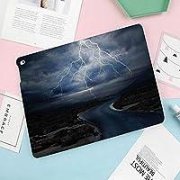 カスタムiPad mini 4 ケース (iPad mini 5 2019モデル非対応) 2つ折スタンド オートスリープ機能空が吹く前に道路の活気に満ちた強いビーム上の雷雨天気画像