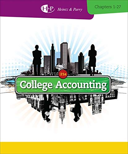 Download College Accounting: Chapters 1-27 (New in Accounting from Heintz and Parry) 1285055411