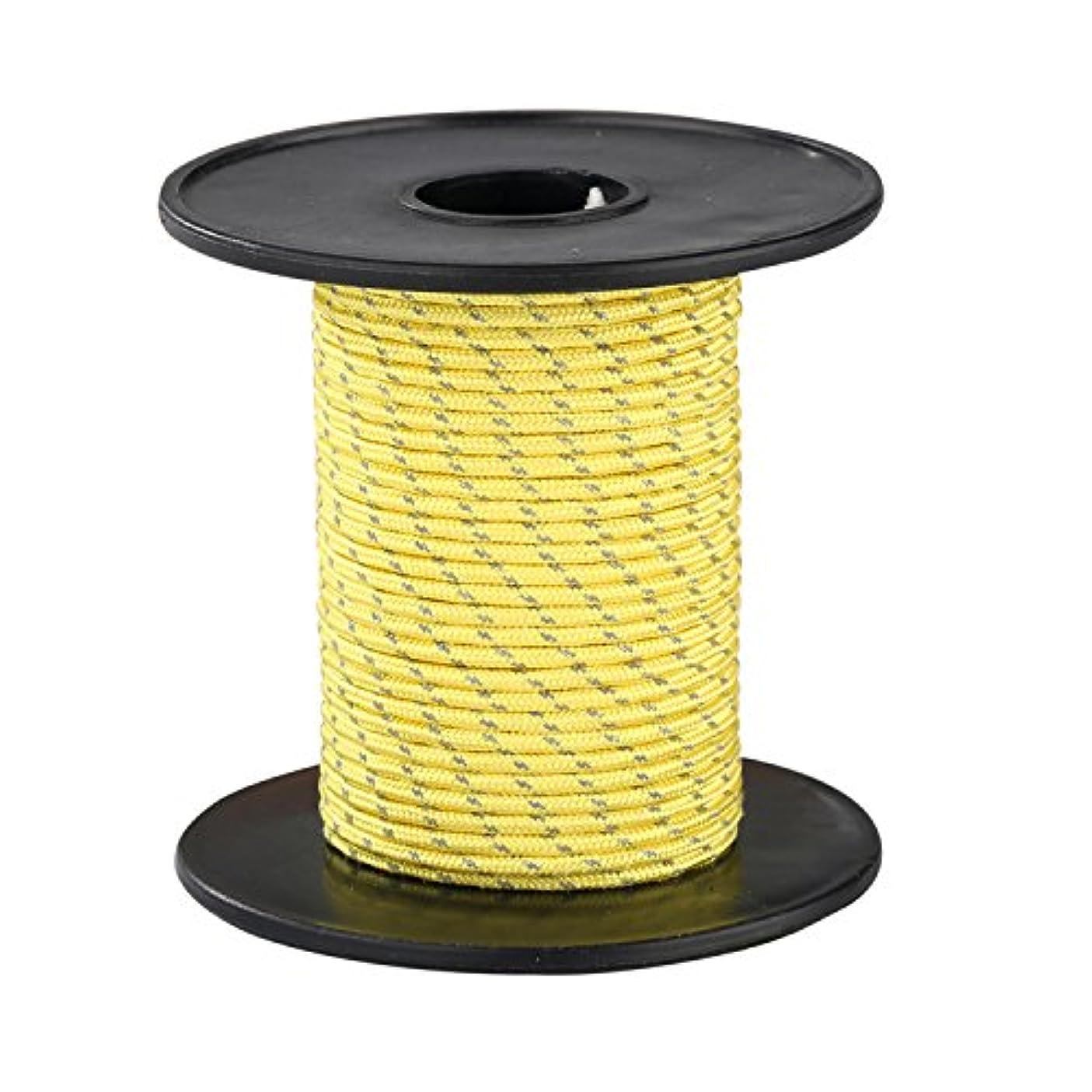 理容師惑星サーバントMy Outline UHMWPE-ポリエステル2.5mmx15M黄色いテント反射ロープ キャンプテント用