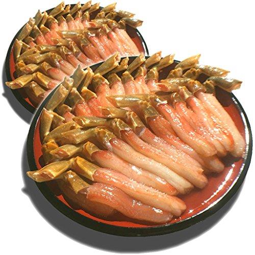 黒帯 ギフトセット 生ズワイガニ 脚 特大 生 ずわい蟹 足 棒肉 ポーション かに むき身 良品選別済 (2kg 80-100本前後入)