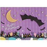 イエスタ Halloween ハロウィン 逆さコウモリ 背景ポスター