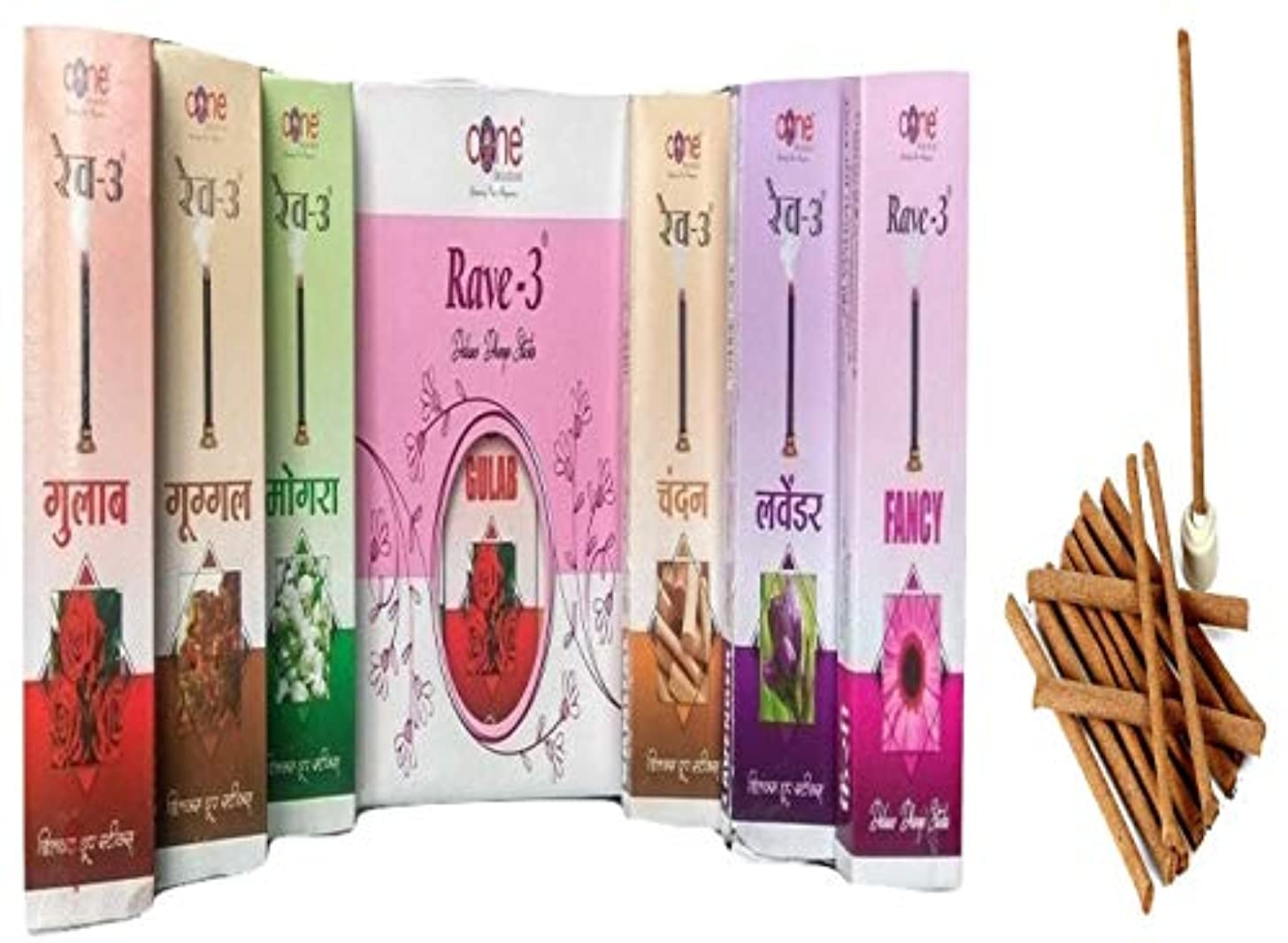 世紀道を作る直接Rave-3 Deluxe Dhoop Sticks (Pack of 12=120 Sticks)