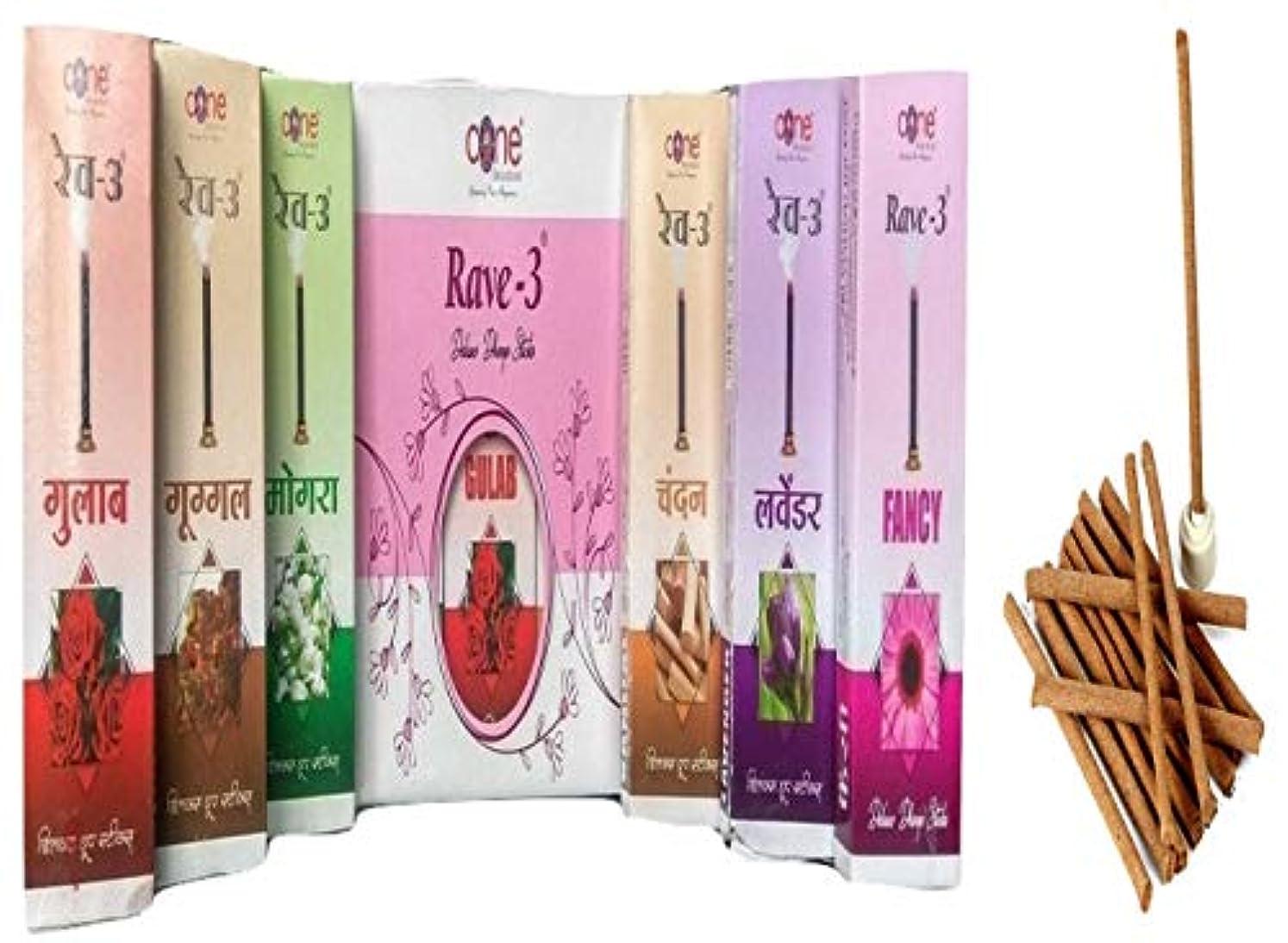 アウター民主主義有毒Rave-3 Deluxe Dhoop Sticks (Pack of 12=120 Sticks)