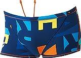 arena(アリーナ) メンズ 競泳水着 練習用 ショートボックス タフスーツ FSA-6611 ネイビー×オレンジ M