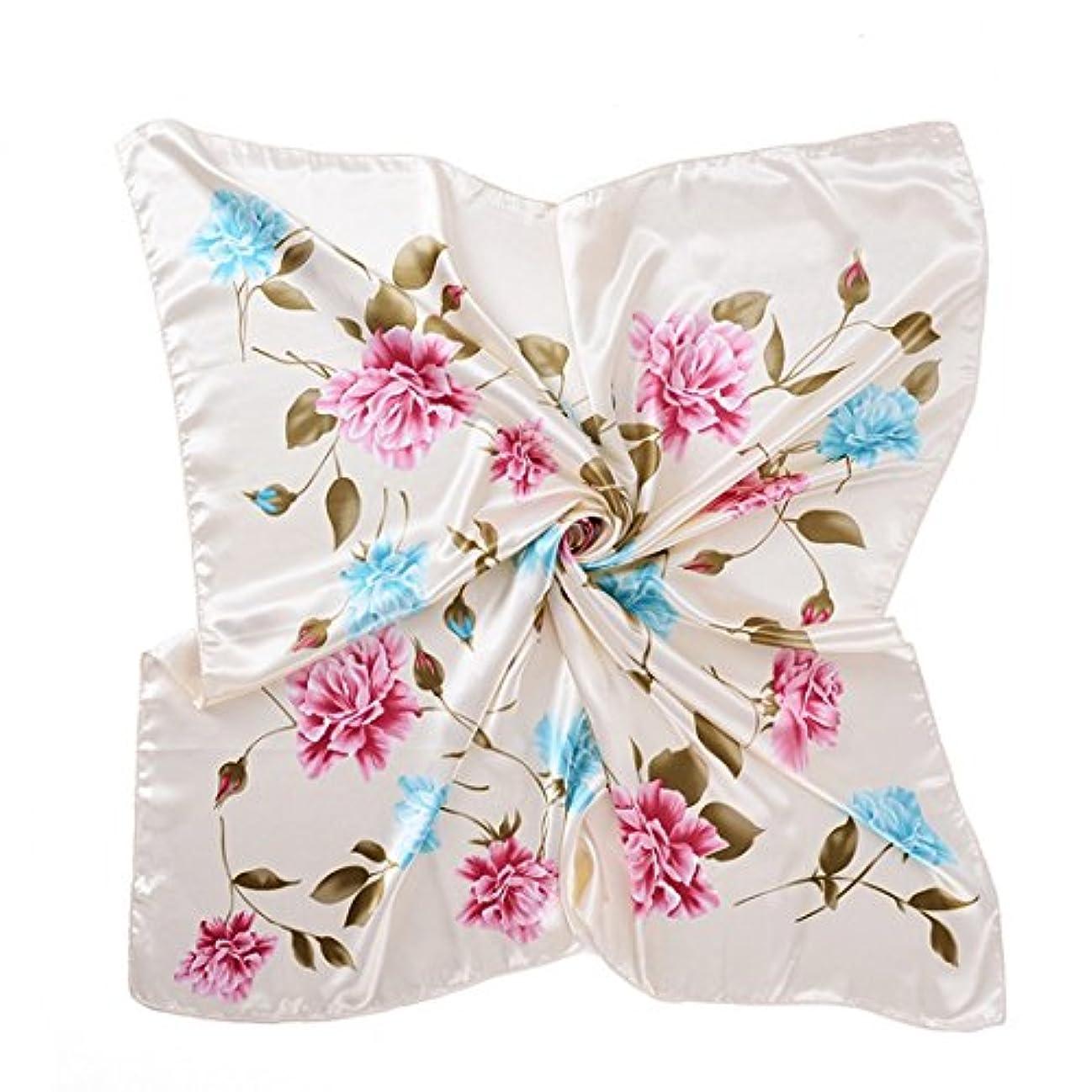 率直なぼろくKTYX ファッションは、正方形のスカーフサテンのシルクスカーフを印刷 スカーフ (色 : Hot, サイズ さいず : 90 * 90cm)