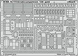 エデュアルド 1/48 He111H-6 無線室 内装エッチングパーツ (ICM用) プラモデル用パーツ EDU49905