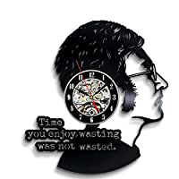 John Lennon the Beatles Art Vinyl Wall Clock Gift Room Modern Home Record Vintage Decoration - Win a prize for feedback