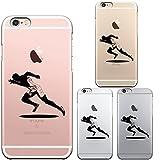iPhone6 iPhone6S 対応 ハード クリア ケース 保護フィルム付 スプリンター 走者 ランナー