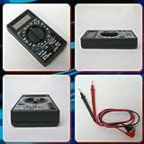 デジタルマルチテスター★コンパクトサイズ★直流電圧 電流 交流電圧 (ブラック)
