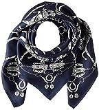 [ビームス デザイン] スカーフ シルクプチスカーフ ブラック レディース 50605501C 日本 64cm×64cm (FREE サイズ)