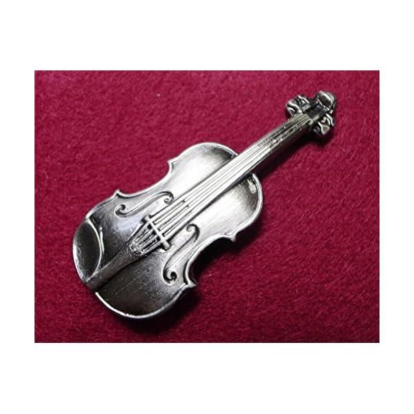 ナカノ スタンダードブローチ バイオリン シル...の紹介画像2