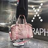 Luggage & Bags Nylon Shoulder Sports Handbag Large Capacity Travel Bag (Black) (Color : Pink)