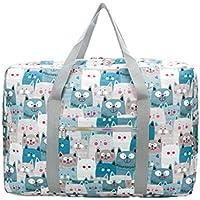 トラベルポータブルストレージバッグ漫画の猫のパターン高品質の防水モイスチャージャー保護オックスフォード布トラベルオーガナイザー羽毛布団の衣服移動仕上げ荷物の収納袋 (サイズ さいず : 52 * 20 * 36cm)