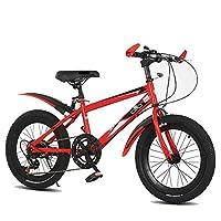 YUMEIGE 子ども用自転車 キッズバイク 18 20インチ、子供用自転車 6速調整、黒、青、赤を使用した2〜15歳の高炭素鋼フレームスポーツバイク 得ることができます (Color : Red, Size : 18)
