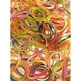 ルームバンド  ミックスカラー選べる6種類のタイプ 金ラメ お得用補充ゴムセット 600×4  2400個入り 可愛いピンクラベル バンドブレスレット専用ゴム カラフルSクリップ12個付き レインボールーム ファンルーム DIY Loom Bands refill Pack - (2400pcs) 【並行輸入品】 (金ラメ(ゴールドグリッター))