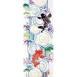 kenema 和雑貨 注染手ぬぐい 『縁起』 鯉の滝昇り 36×90cm