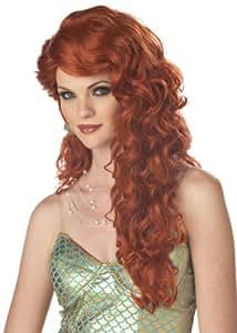 Mermaid (Auburn) Adult Wig マーメイド(オーバーン)大人のウィッグ♪ハロウィン♪サイズ:One-Size