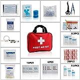 Eggsnow (エグスノー) 救急セット 防災セット 家庭 職場 アウトドア等応急処置セット 18種類 白十字バッグ